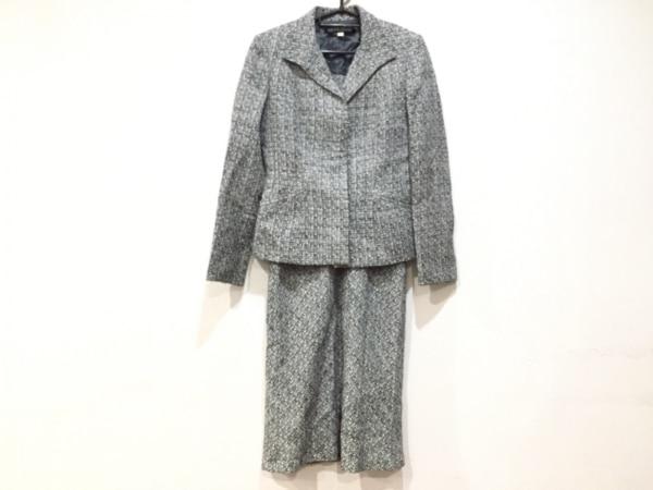 ミッシェルクラン ワンピーススーツ サイズ38 M レディース新品同様  黒×白