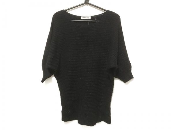 Apuweiser-riche(アプワイザーリッシェ) 半袖セーター サイズ2 M レディース 黒 ラメ