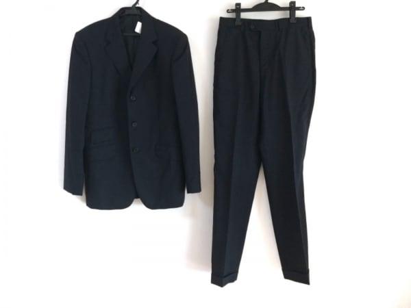 PaulSmith(ポールスミス) シングルスーツ サイズXL メンズ 黒×グレー チェック柄