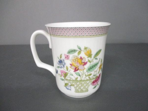 MINTON(ミントン) マグカップ新品同様  白×マルチ 花柄 陶器