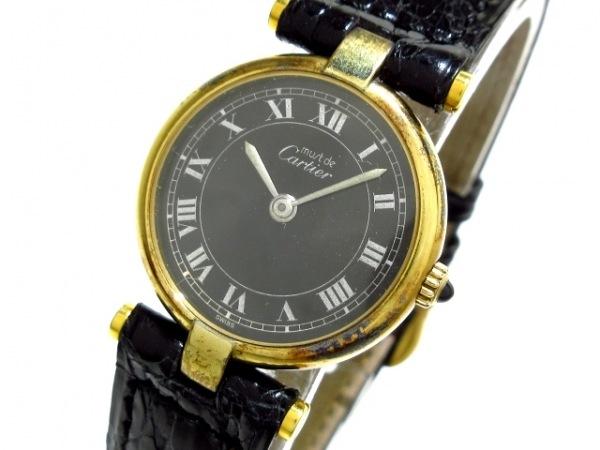 Cartier(カルティエ) 腕時計 マストヴェルメイユ - レディース 黒