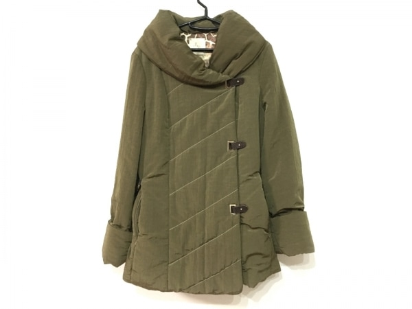 SALCO(サルコ) ダウンコート サイズ46 XL レディース美品  カーキゴールド 冬物