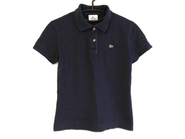 Lacoste(ラコステ) 半袖ポロシャツ サイズ40 M レディース ネイビー