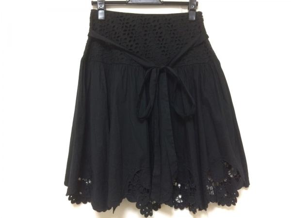 BLUMARINE(ブルマリン) スカート サイズ40 M レディース美品  黒 刺繍