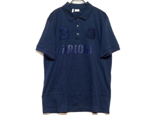 Brioni(ブリオーニ) 半袖ポロシャツ サイズXXL XL メンズ ネイビー