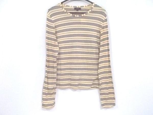 バーバリーロンドン 長袖Tシャツ サイズM レディース美品  ベージュ×黒×マルチ