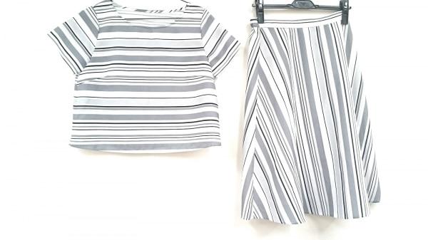 SOUP(スープ) スカートセットアップ サイズ9 M レディース新品同様  白×グレー×黒