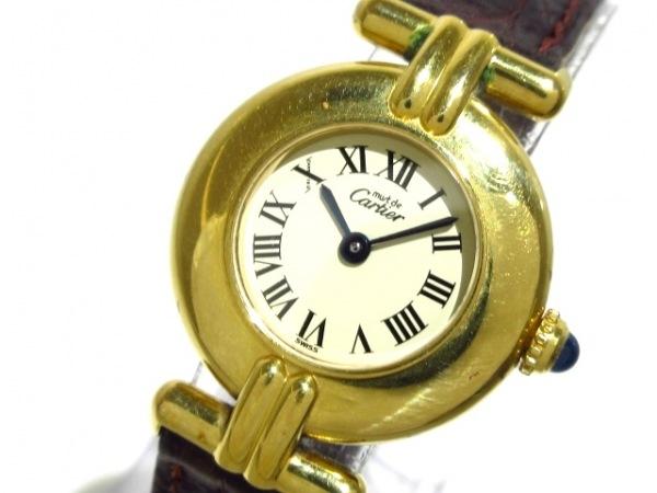 Cartier(カルティエ) 腕時計 590002 レディース 革ベルト/925 白