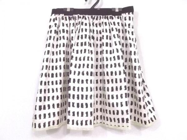エストネーション スカート サイズ38 M レディース新品同様  アイボリー×黒 bis