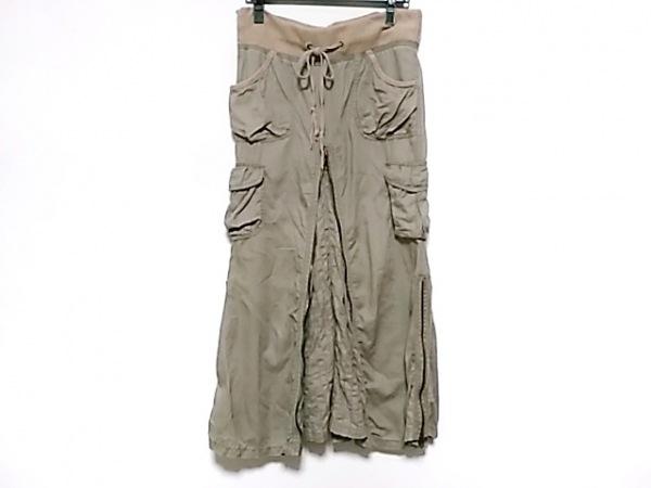 G.O.A/goa(ゴア) スカート サイズF レディース カーキ×ベージュ