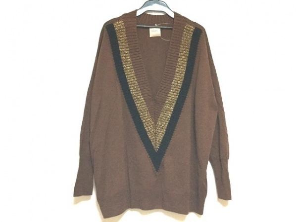 アッシュペーフランス 長袖セーター サイズ40 M レディース美品  nude/ラメ