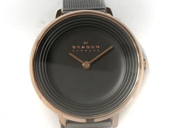 SKAGEN(スカーゲン) 腕時計美品  - レディース ダークグレー
