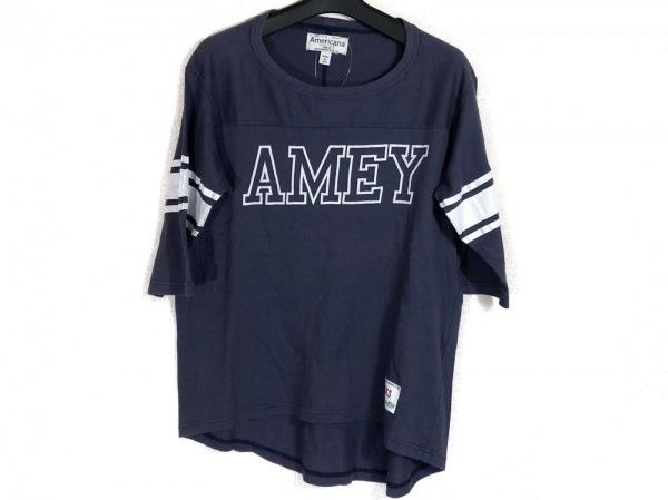 AMERICANA(アメリカーナ) Tシャツ サイズXXS XS レディース ネイビー×白