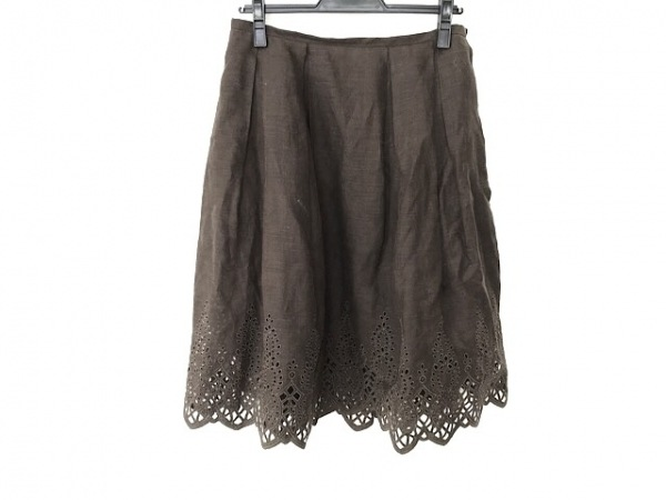 FOXEY(フォクシー) スカート サイズ42 L レディース美品  ダークブラウン