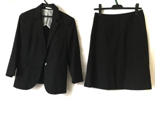 LES MUES(レミュー) スカートスーツ サイズM レディース 黒 ストライプ