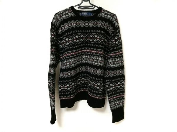 POLObyRalphLauren(ポロラルフローレン) 長袖セーター メンズ 黒×グレー×マルチ