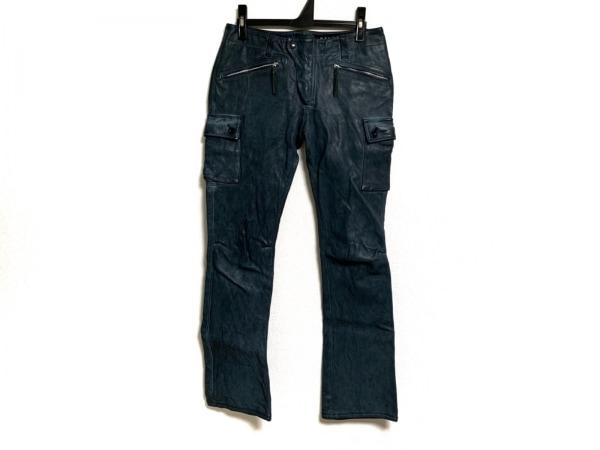 MaxFritz(マックスフリッツ) パンツ サイズ42 L レディース ネイビー レザー/femme