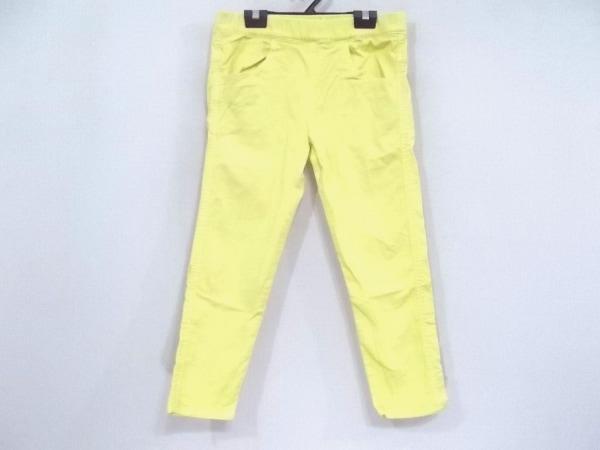 ドゥーズィエム パンツ サイズ36 S レディース イエロー ウエストゴム