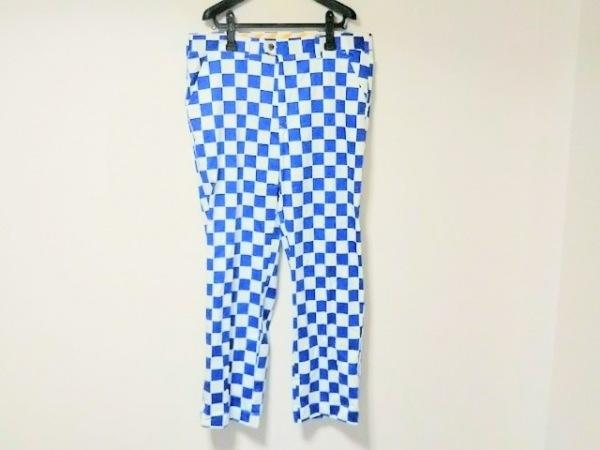 LOUDMOUTH(ラウドマウス) パンツ サイズ38×32L メンズ ブルー×白