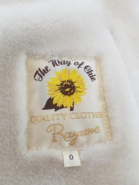 RAY BEAMS(レイビームス) コート サイズ0 XS レディース美品  ベージュ×アイボリー