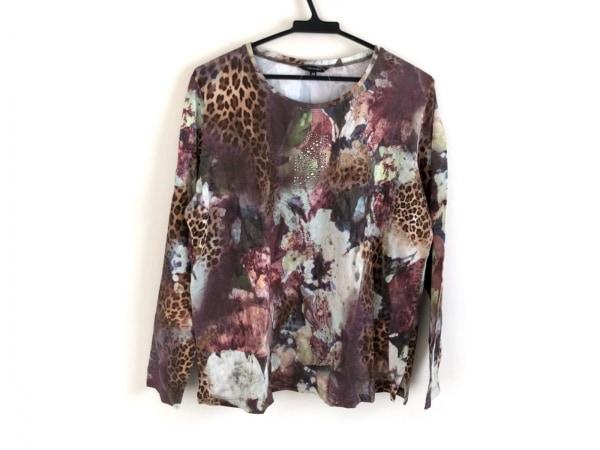 バレンザ 長袖Tシャツ サイズ48 XL レディース美品  花柄/豹柄/ラインストーン
