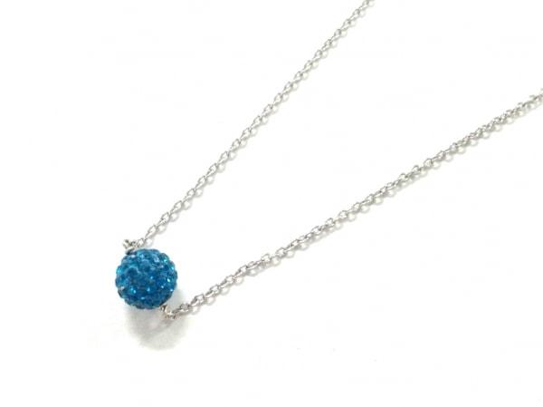 AGATHA(アガタ) ネックレス美品  シルバー×ラインストーン ブルー