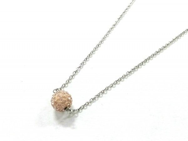 AGATHA(アガタ) ネックレス美品  シルバー×ラインストーン ピンク