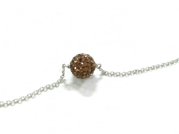 AGATHA(アガタ) ネックレス美品  シルバー×ラインストーン ゴールド