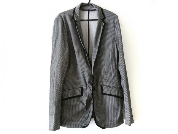 MEN'SBIGI(メンズビギ) ジャケット メンズ美品  黒×ライトグレー ストライプ