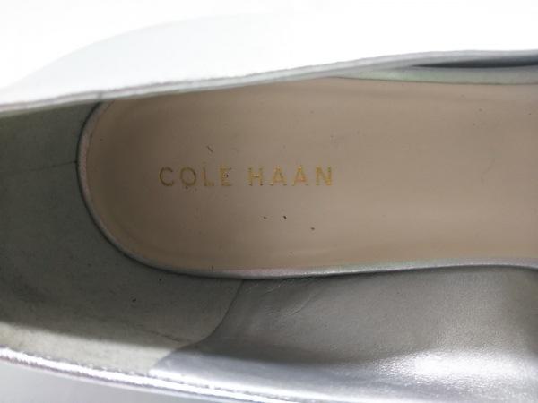 COLE HAAN(コールハーン) パンプス 7 レディース シルバー オープントゥ レザー