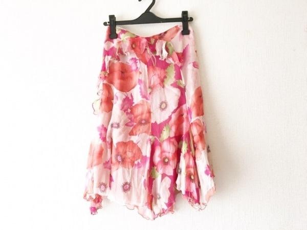 アンナモリナーリ スカート サイズ38 S レディース ピンク×レッド×マルチ