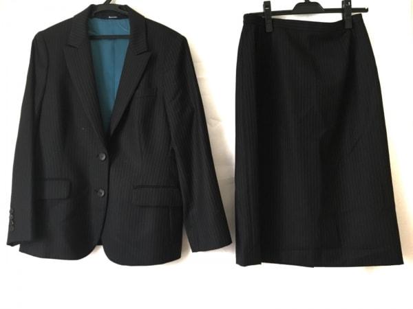 Aquascutum(アクアスキュータム) スカートスーツ レディース 黒×パープル ストライプ