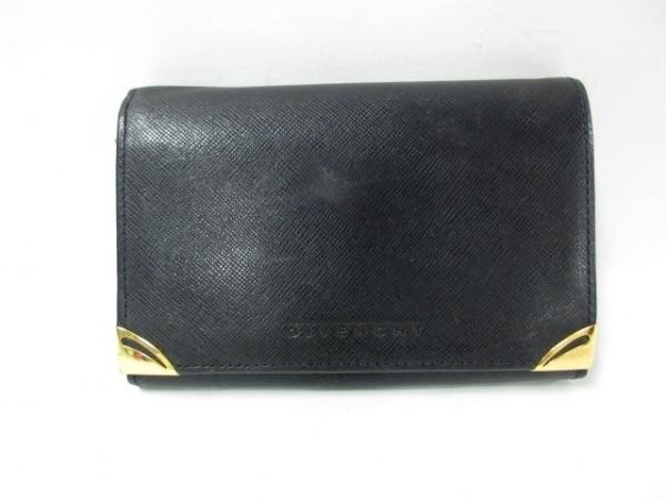 GIVENCHY(ジバンシー) 2つ折り財布 黒 レザー