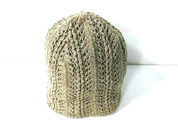 CA4LA(カシラ) ニット帽 ベージュ シルク