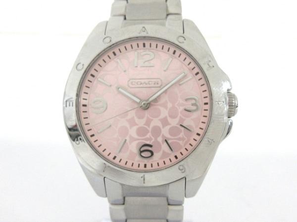 COACH(コーチ) 腕時計 ミニシグネチャー柄 CA.67.7.14.0689 レディース ピンク