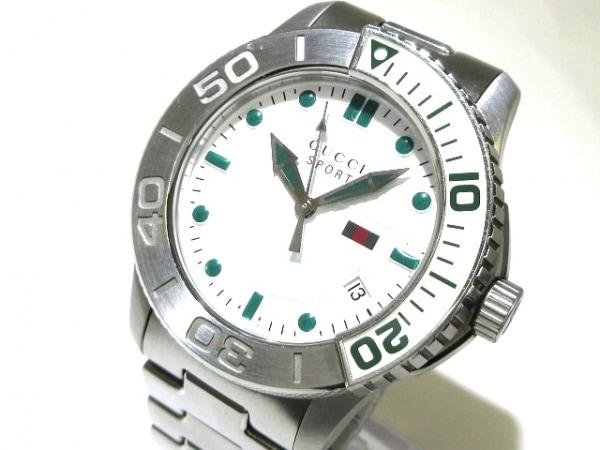 GUCCI(グッチ) 腕時計美品  Gタイムレススポーツ 126.2/YA126232 メンズ 白