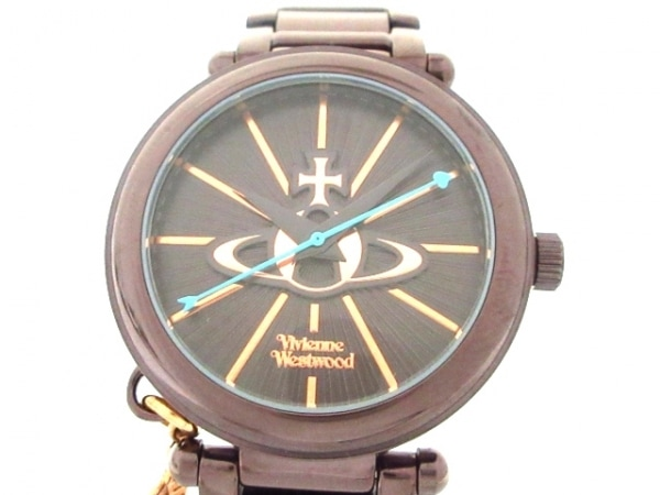 ヴィヴィアン 腕時計美品  VV006KBR レディース ダークブラウン×ブラウン