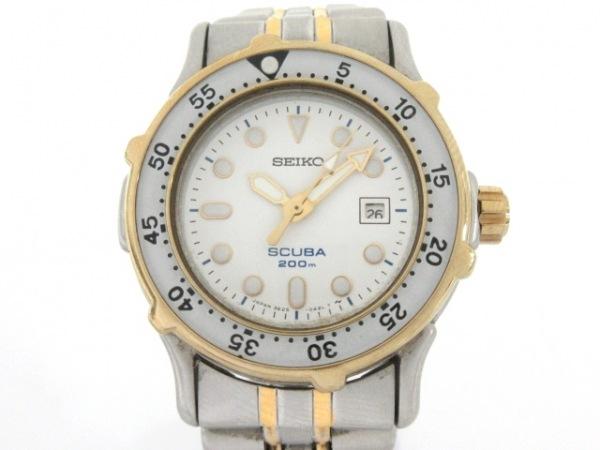 SEIKO(セイコー) 腕時計 スキューバ200 3E25-0A30 レディース 白