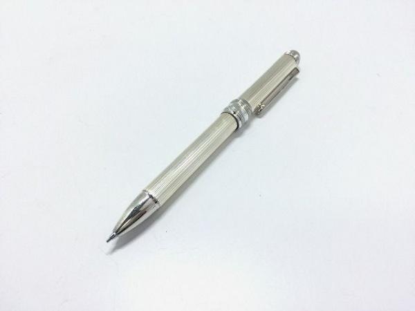 PLATINUM(プラチナ) ペン美品  シルバー ボールペン2種(赤・黒)&シャープペンシル