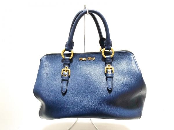miumiu(ミュウミュウ) ハンドバッグ マドラス RL0060 ブルー レザー