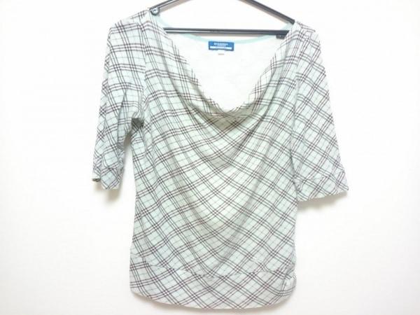 バーバリーブルーレーベル 七分袖Tシャツ サイズ38 M レディース チェック柄