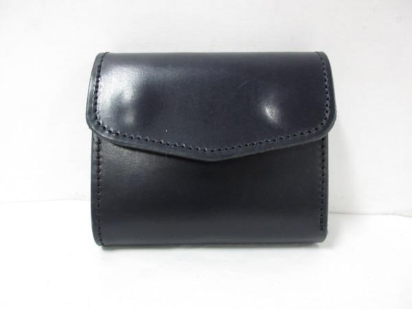 kissora(キソラ) 3つ折り財布美品  黒 ×cramp レザー