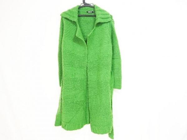 DKNY(ダナキャラン) コート サイズS レディース ライトグリーン 冬物/ニット