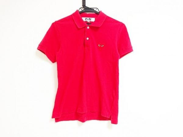 プレイコムデギャルソン 半袖ポロシャツ サイズM レディース レッド