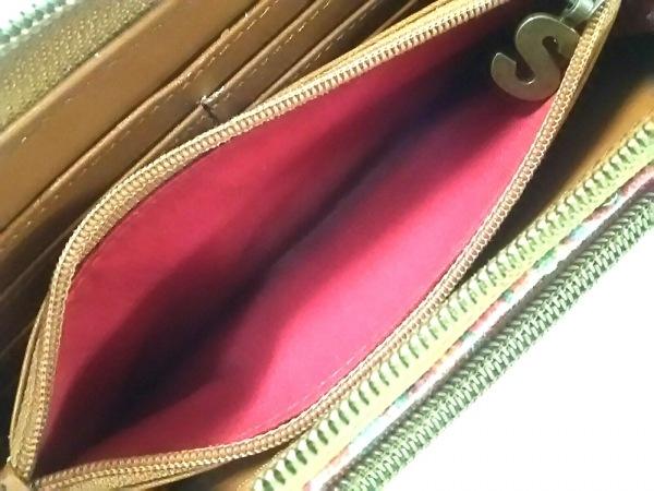 Desigual(デシグアル) 長財布美品  ピンク×パープル×マルチ キャンバス