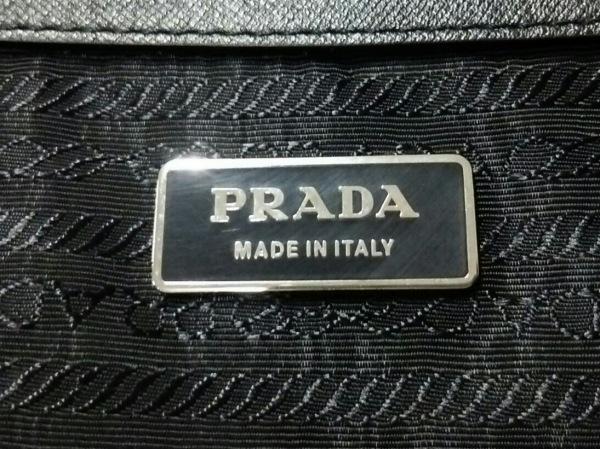 PRADA(プラダ) ボストンバッグ - 黒 ロックナンバー【不鮮明】 ナイロン×レザー