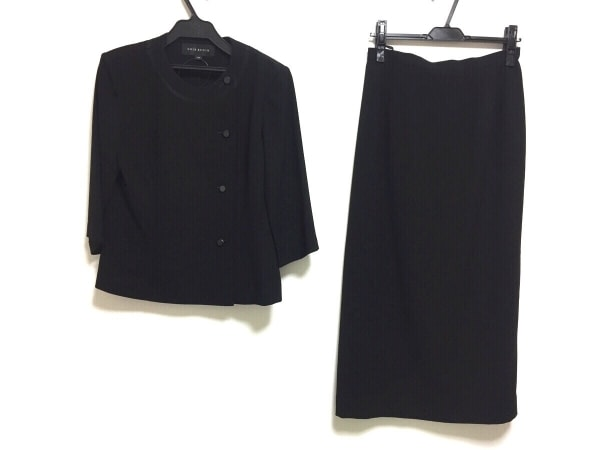 SOIR BENIR(ソワールベニール) スカートセットアップ サイズ13AR M レディース 黒