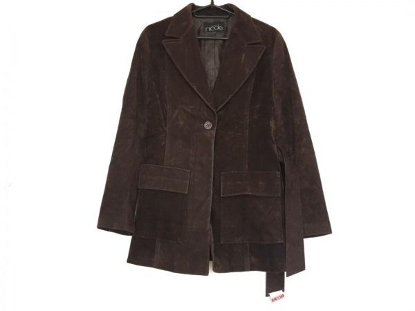 NICOLE(ニコル) コート サイズ38 M レディース美品  ダークブラウン ショート丈/冬物