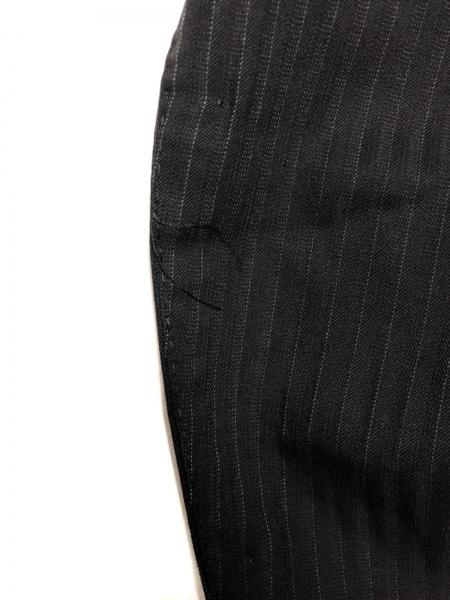 JUN MEN(ジュンメン) シングルスーツ サイズL メンズ 黒×ライトグレー ストライプ