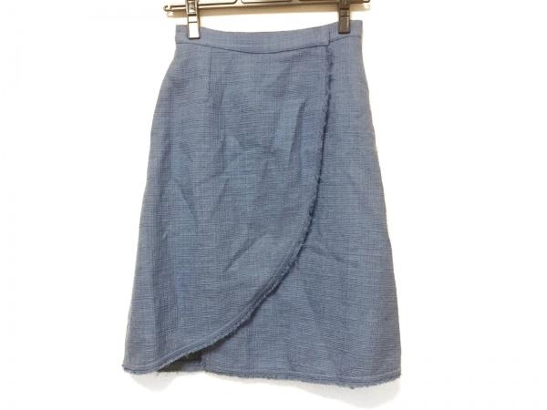 FENDI(フェンディ) 巻きスカート サイズ38 S レディース ブルー ツイード